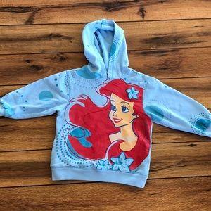 Toddler Disney Hoodie Sweatshirt Little Mermaid